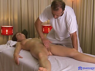 Needy young babe falls under the masseur's sexual waste