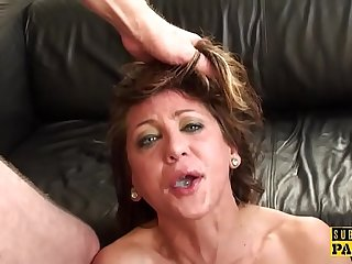 Hot MILF uses a vibrator on her pussy while a friend screws her
