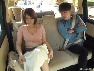 Hardcore reality public blowjob with a Japanese couple in a car