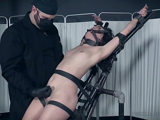 Hardcore BDSM fetish scene with slave girl Alex More tortured
