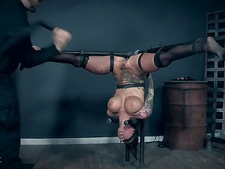 Lily Lane hanged upside down and pussy tortured with toys