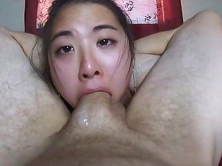 Asian termagant sucks my yearn eyeless dickhead