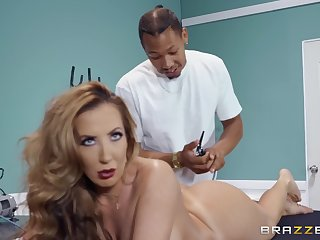 Richelle Ryan gets say no to pussy fucked and fingered in the massage room