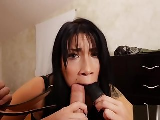 Pov latina stepdaughter sucking