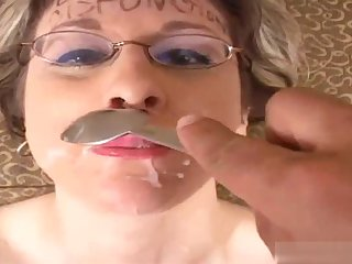 The glasses wearing, dirty blonde haired MILF, Kitty Lee will blow your mind