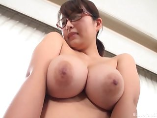 Gotou Rika shows her titanic bosom to the camera for the foremost lifetime