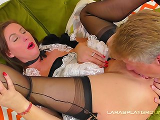 A real delight for an obstacle tramp far fuck his mature maid