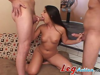 Video of housewife Luscious Lopez getting fucked more a threesome