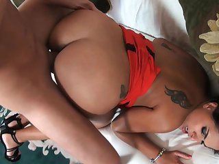 Amazing nude porn with a hot Latina craving be proper of sperm exposed to face