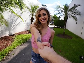 Small tits Kali Roses beside pierced nipples fucked by a stranger