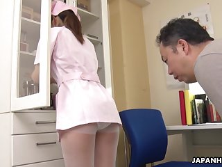 The pressure increased because of Japanese pretty young nurse Anna Kimijima