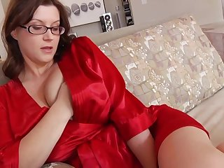 Ultra-Kinky housewife with phat mammories together with glasses enjoys to have romp while her spouse is working