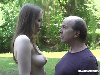 An superannuated fart explores a tall young woman together with go off at a tangent babe fucks like mad