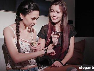 Shy and timid babe Ashley Ocean gets seduced by her lesbian friend