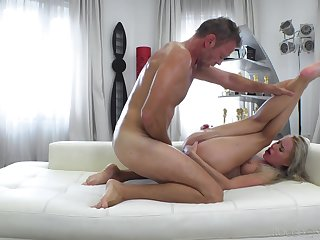 Skinny young blonde feels Rocco fucking their way roughly