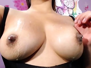 German chick anent pierced nipples playing