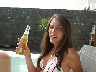 RAW Pool Be wild about and Facial with Bonny Convenience Brunette - MySweetApple