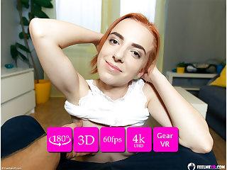 Thumbelina downcast redhead lapdance VR180