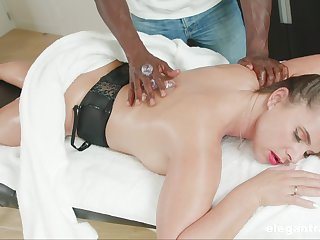 Massage leads fixed devoted to woman to crave for the BBC