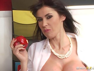 Wild shagging on chum around with annoy table with anal branch of knowledge for sexy Eva Karera