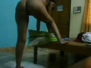 Bent over the bench amateur Desi gripe gets fucked from behind