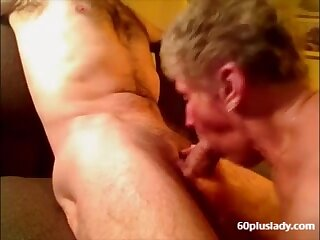Very old granny swell up young dick coupled with tipple cum