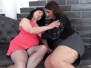 Chubby sluts Iveta and Bobby M get fucked by one younger guy