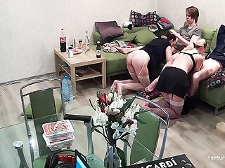 Tyro Teens In Foursome Blowjob Swingers Action With Friends