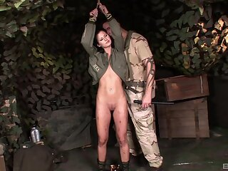 Army girl Lulu Martinez tied up and treated like a sex slave