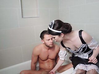 Elegant maid provides extra services and she fucks like a goddess