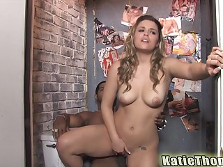 Toilet doggy fuck with Katie Thomas and a big black cock