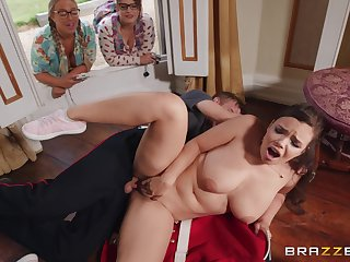 Chubby pessimistic Sofia Lee gets her cunt fucked by her horny side