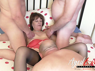AgedLovE British Grown-up and Duo Cocks Groupsex