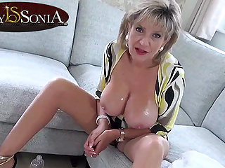 Hot JOI from steaming-hot matriarch Foetus Sonia