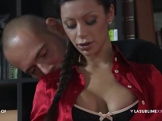 Threesome with double penetration be advisable for darling Elena Grimaldi