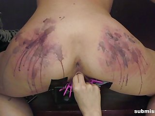 Brutal pussy added to ass anguish session by blonde Goddess Starla