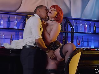 Ravenous redhead Gia Paige fucked rather constant gravid
