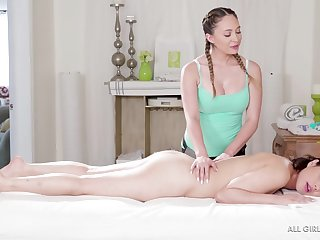 Quinn Wilde and Penelope Reed are in the mood to defend love in a massage room
