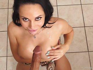 Mega naughty POV oral have sex with a premium mom
