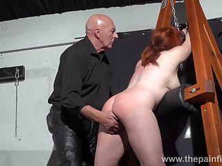 Depraved busty whore Vicki Valkyrie is made for hard BDSM fun