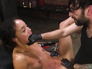 Ebony brutally fisted and bdsm made love