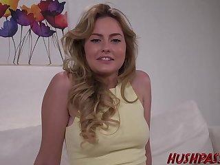 Unembellished blonde is income her legs in the air open and obtaining her pussy licked and fucked