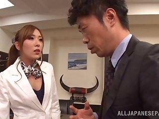 Hardcore fucking consecutively a the worst a boss and seductive secretary Rin Sakuragi